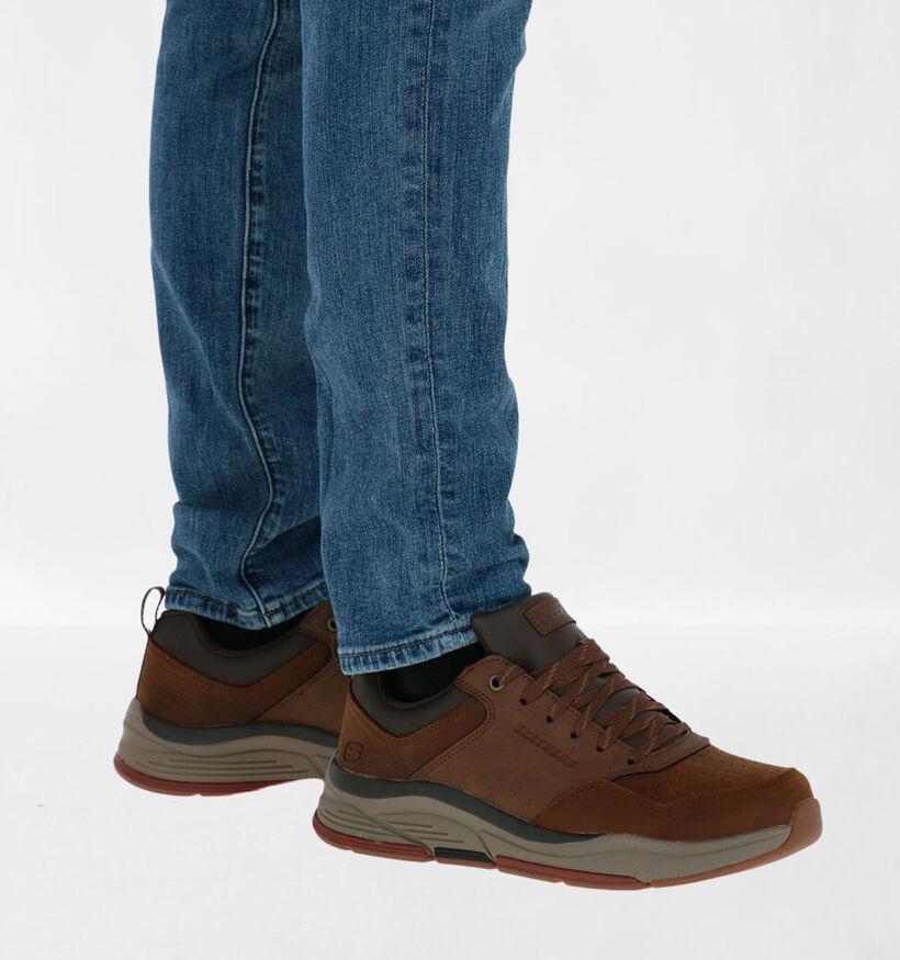 Skechers Relaxed Fit Zwarte Sneakers in stof (279417)