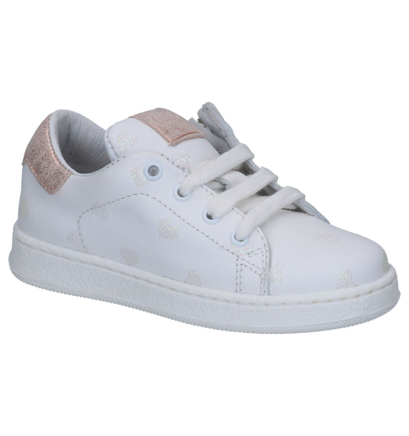 Clic! Chaussures basses en Blanc en cuir (270506)