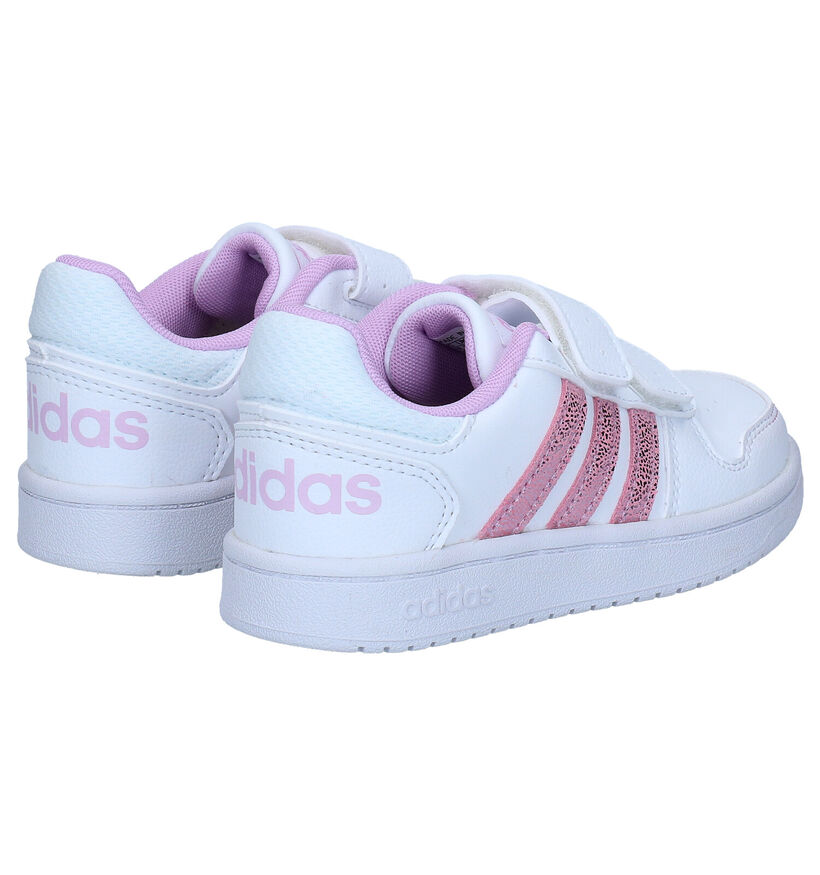 adidas Hoops Witte Sneakers in kunstleer (284523)