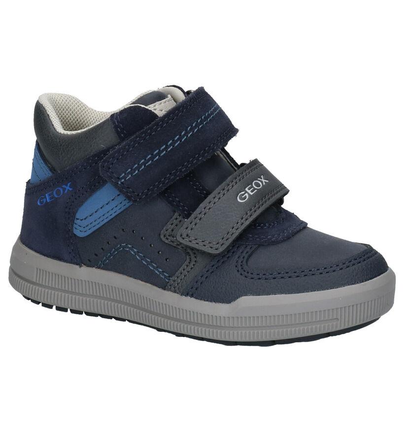 Geox Blauwe Velcroschoenen in kunstleer (254506)