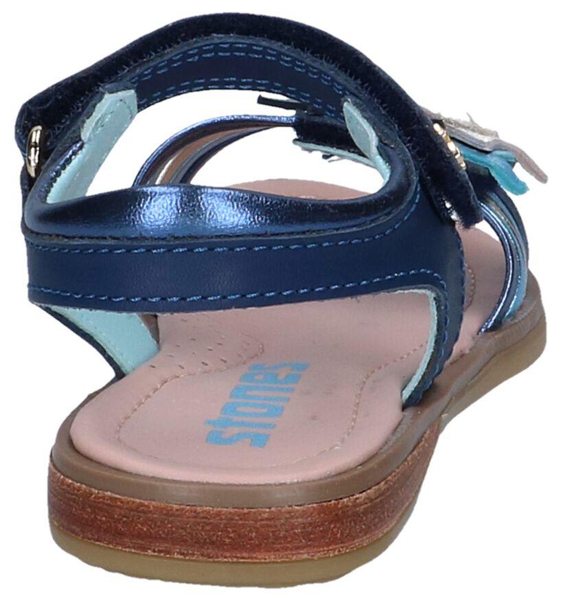 STONES and BONES Sandales en Bleu foncé en cuir (240779)