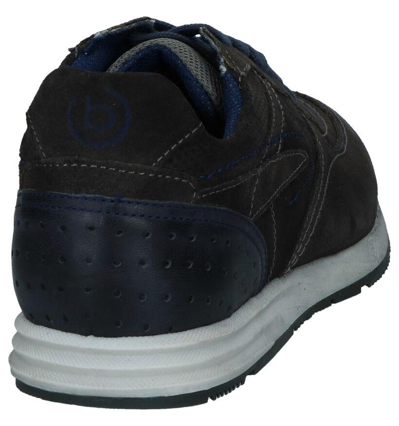 Bugatti Chaussures basses en Gris foncé en cuir (237424)