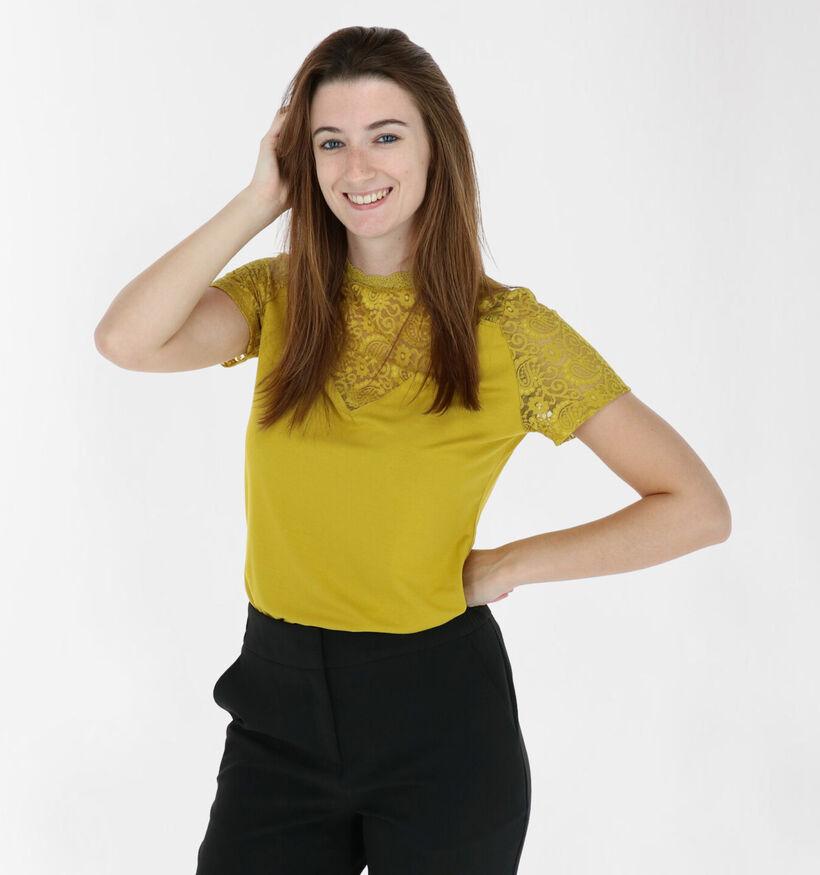 Tramontana T-shirt en Jaune (282003)