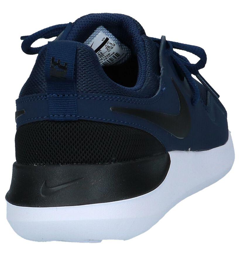 Nike Baskets basses en Bleu foncé en textile (219409)