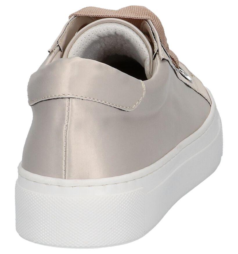 Beige Lage Geklede Sneakers Bronx in stof (220727)