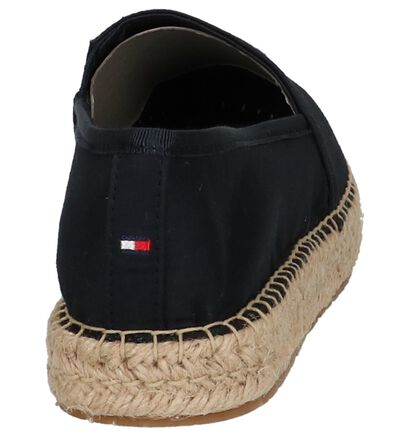 Donkerblauwe Espadrilles Tommy Hilfiger sequins in stof (212216)