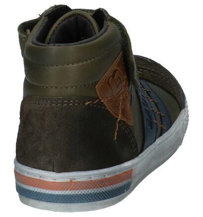 Little David Chaussures hautes en Vert kaki en cuir (232530)