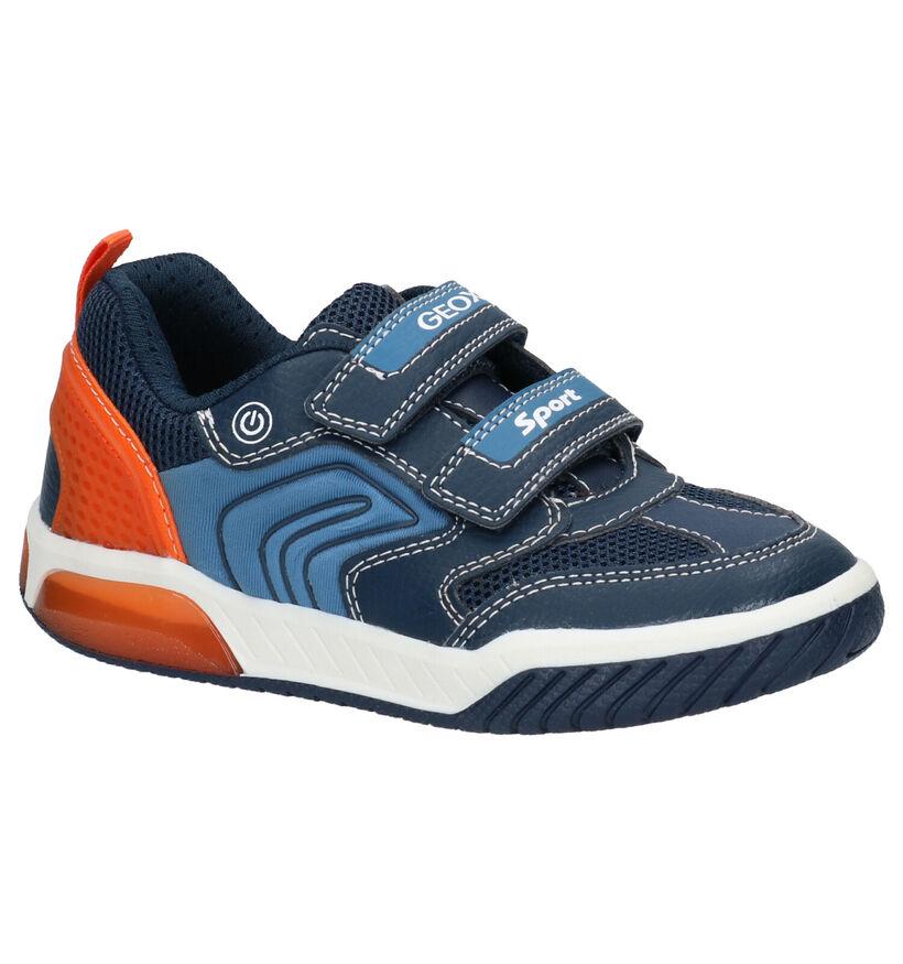 Geox Blauwe Velcroschoenen in kunstleer (265801)