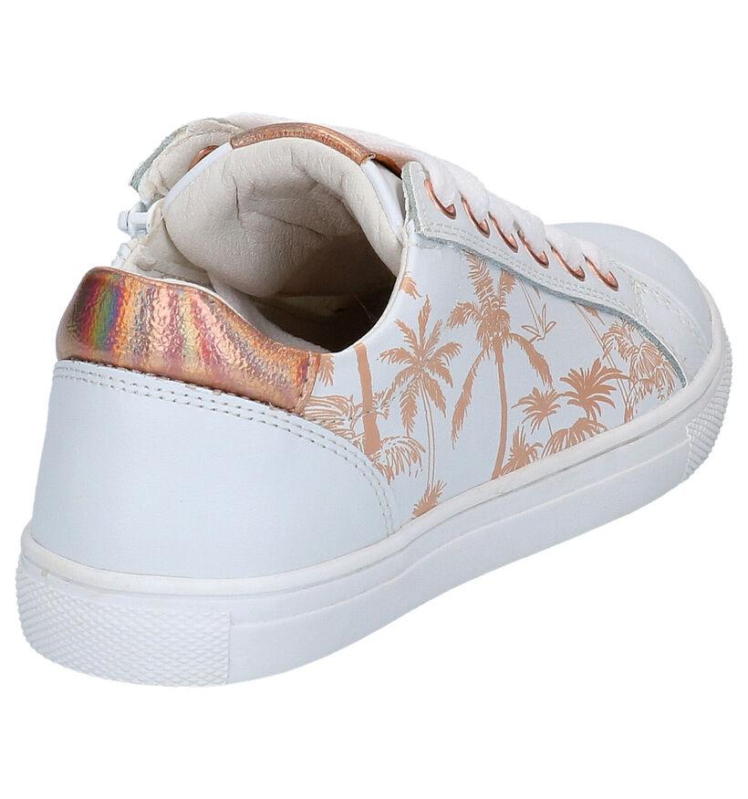 Witte Lage Sneakers Milo & Mila in leer (271097)