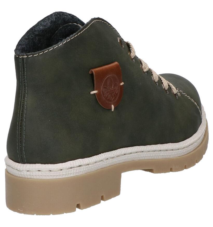 Rieker Donkergroene Boots in kunstleer (262135)