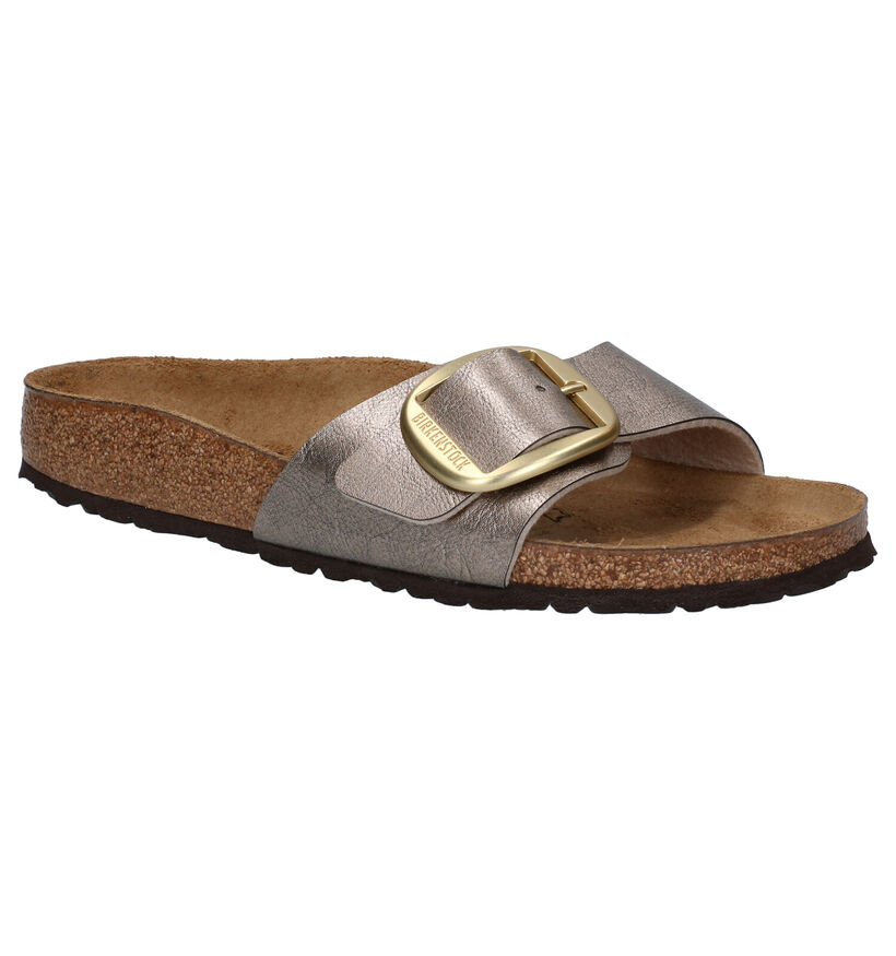 Birkenstock Madrid Zwarte Slippers in kunstleer (281713)