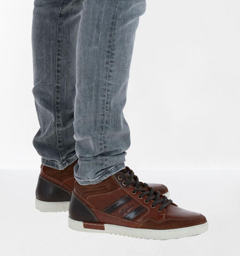 Australian Liam Chaussures Hautes en Cognac en cuir (282660)