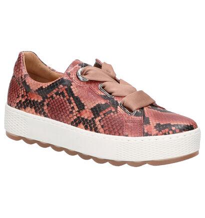Gabor Comfort Chaussures à lacets en Rose en cuir (260078)