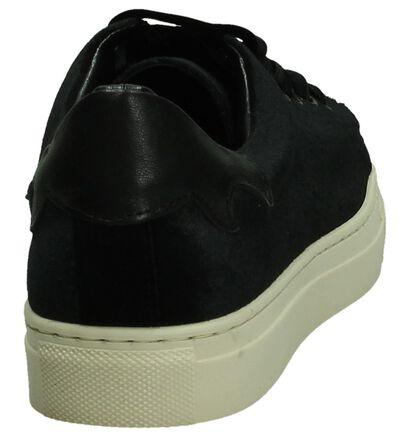 Bordeaux Velours Sneaker Gio+, Zwart, pdp