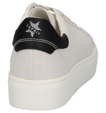 Ecru Esprit Elda Sneakers met Glitters, Beige, pdp