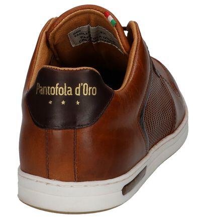 Cognac Casual Schoenen met Veters Pantofola d'Oro Auronzo Premium Low in leer (223564)