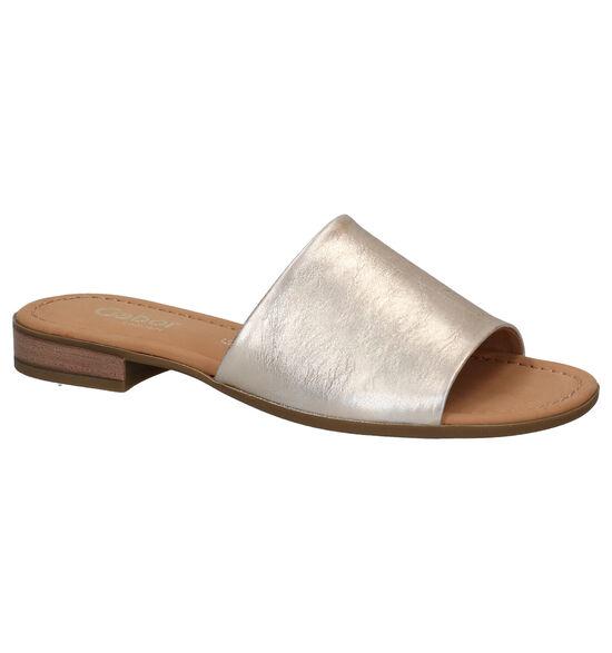 Gabor Nu-pieds plates en Or