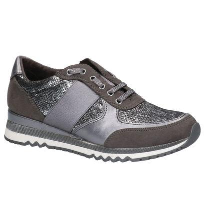 Marco Tozzi Grijze Sneakers in daim (253787)