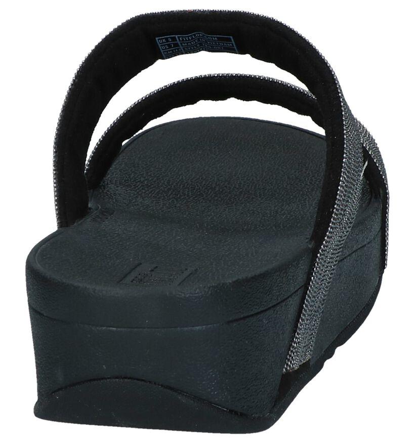 FitFlop Nu-pieds à talons en Noir en textile (240985)