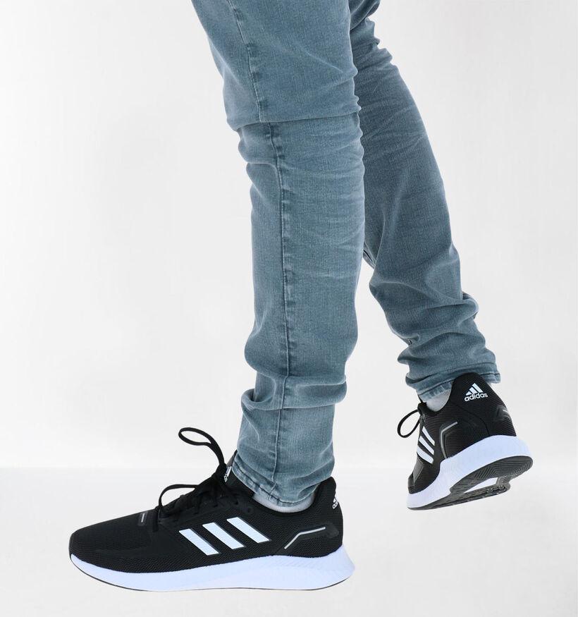 adidas Runfalcon Zwarte Sneakers in kunstleer (284847)