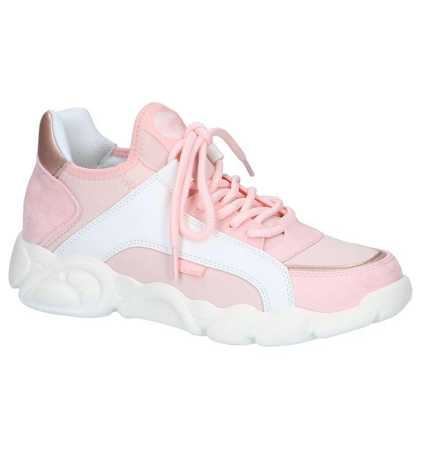 Lichtroze Slip-on Sneakers Buffalo Cali in kunstleer (240466)