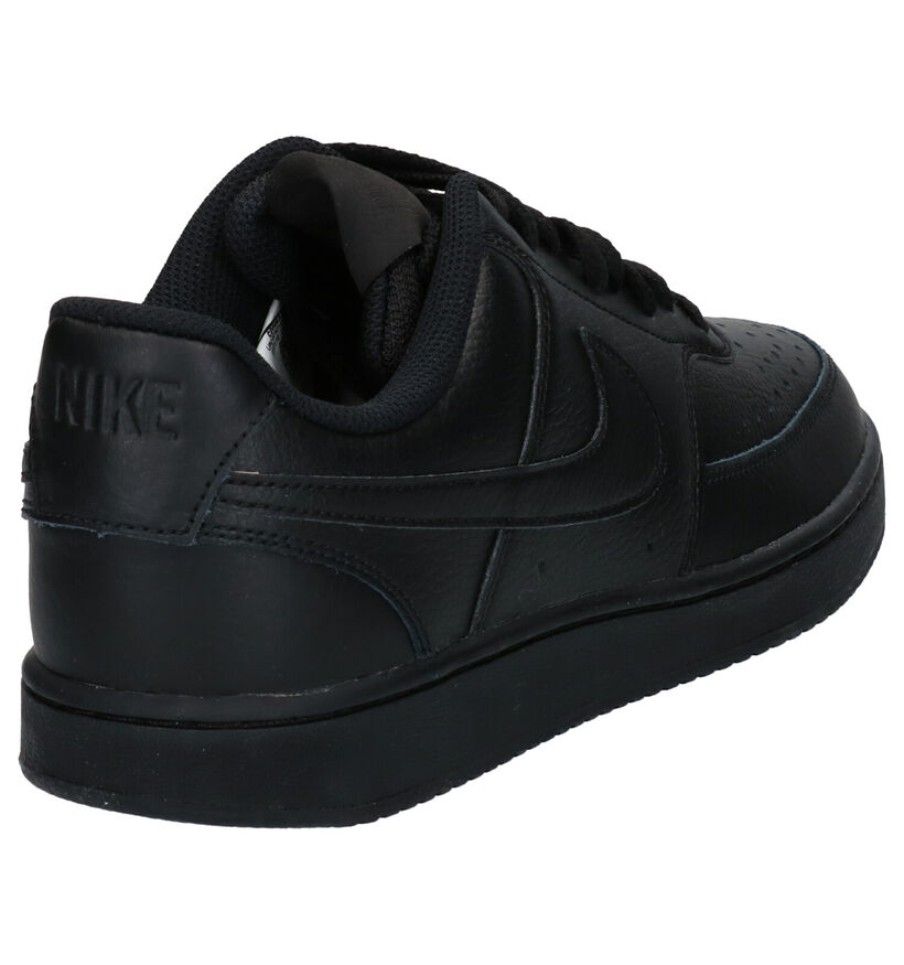 Nike Court Vision Baskets en Noir en cuir (261690)