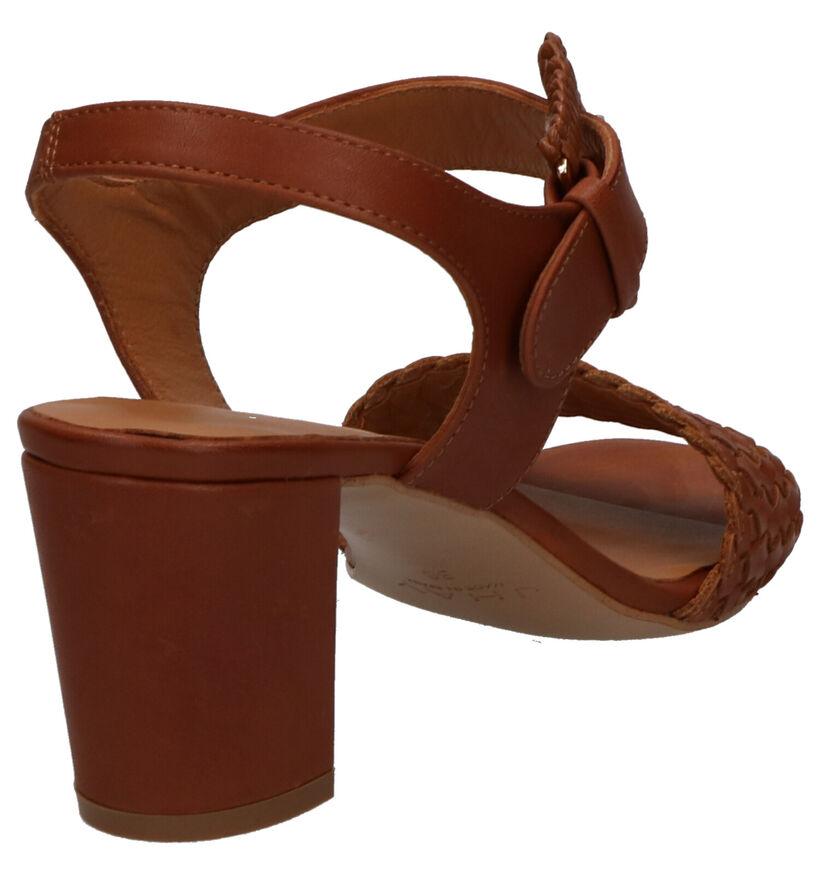 JHay Sandales à talons en Cognac en cuir (273122)