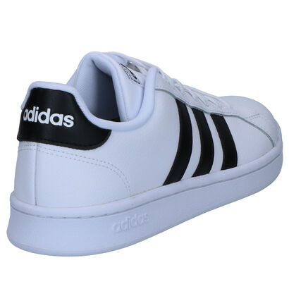 adidas Grand Court Zwarte Sneakers in leer (264657)