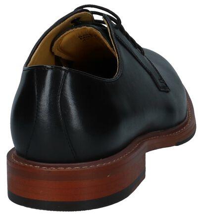 Zwarte Geklede Veterschoenen Steptronic Banbury, Zwart, pdp