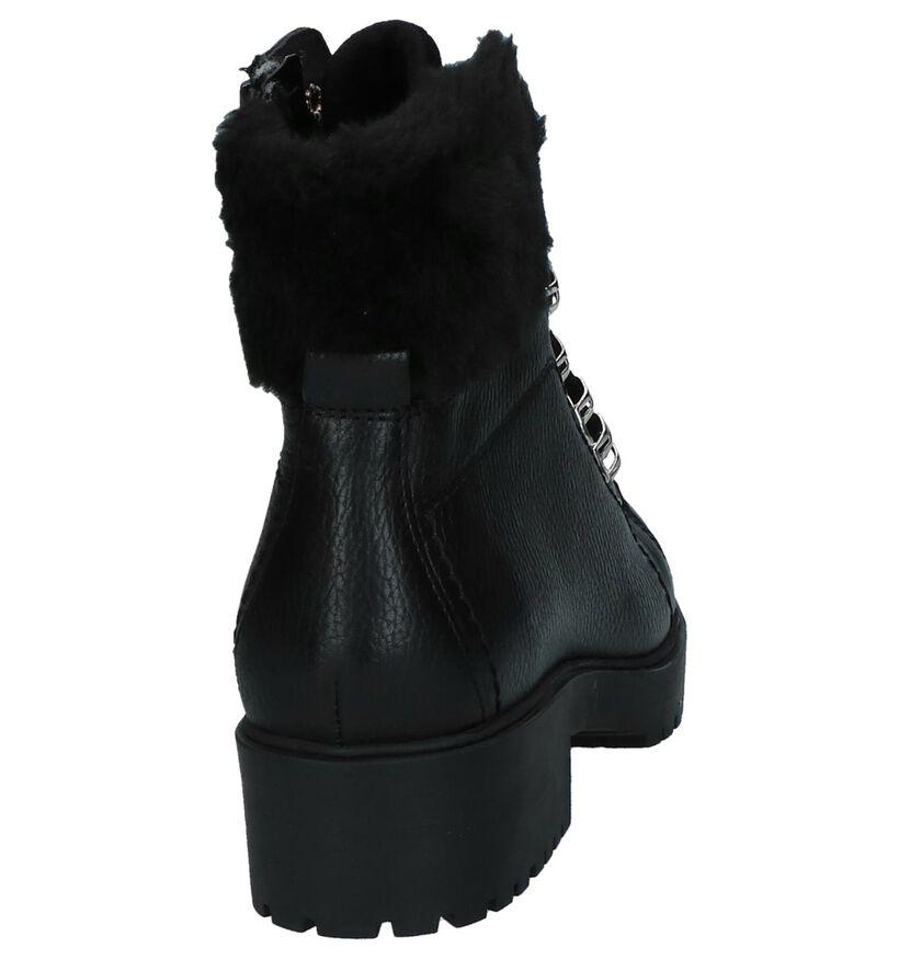 Stoere Boots Bullboxer Zwart in leer (232194)