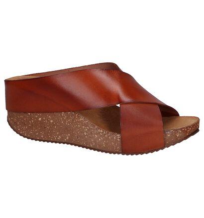 Hee Nu-pieds à talons en Cognac en cuir (244417)