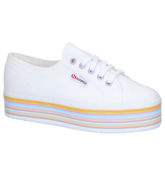 Witte Lage Sneakers Superga