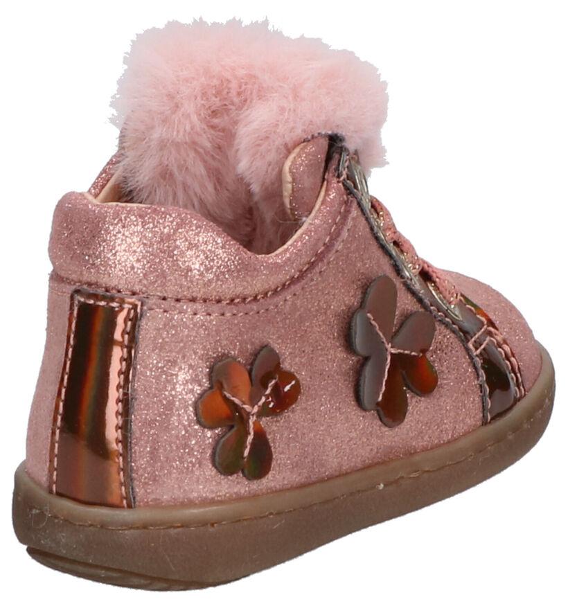 Lunella Roze Hoge Schoenen in leer (259009)
