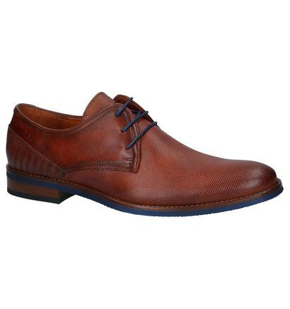 Van Lier Chaussures habillées en Cognac en cuir (241083)