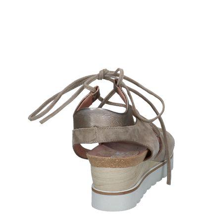 Lichtroze Sandalen met Sleehaik Mjus, Taupe, pdp