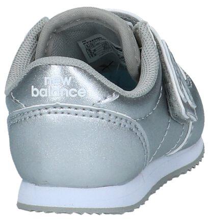 New Balance Baskets basses en Argent en simili cuir (222832)
