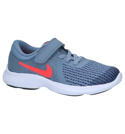 Nike Revolution Baskets basses en Gris clair en textile (222592)