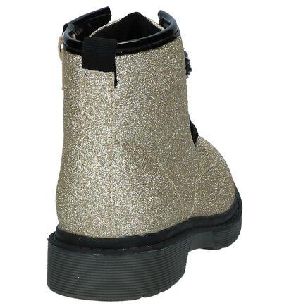Gouden Boots Rits/Veter met Glitters K3, Goud, pdp