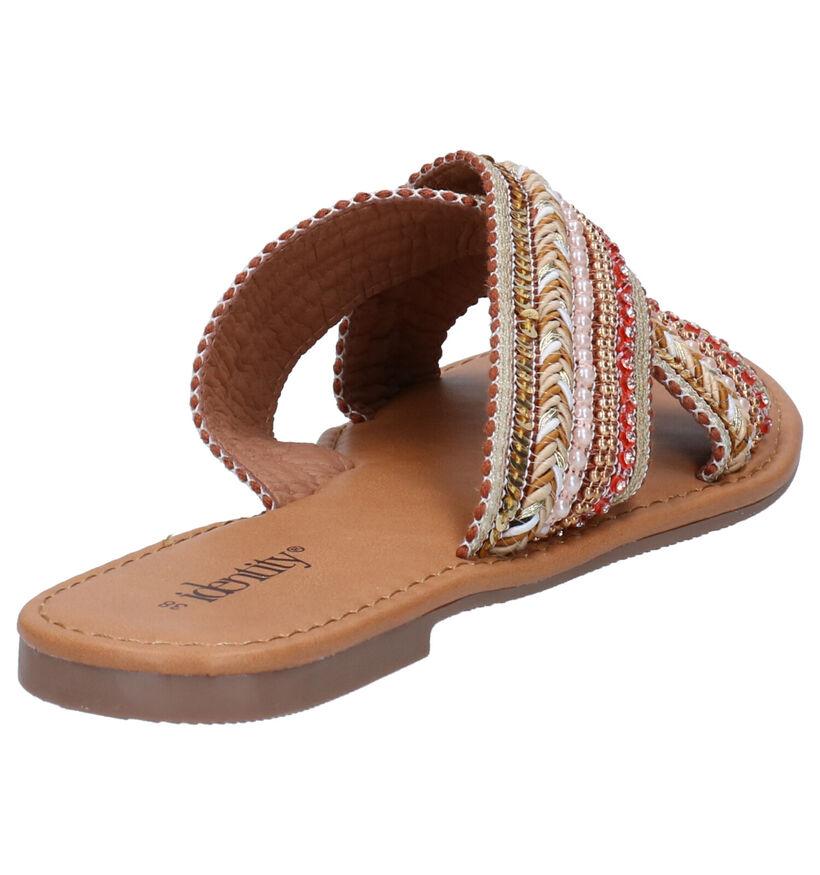 Identity Nu-pieds en Beige en textile (273453)