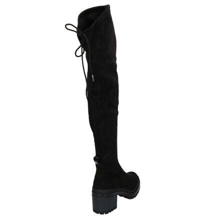 Tamaris Zwarte Overknee Laarzen in stof (262729)