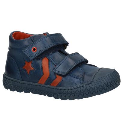Donker Blauwe Hoge Schoenen STONES and BONES Nevan in leer (225284)