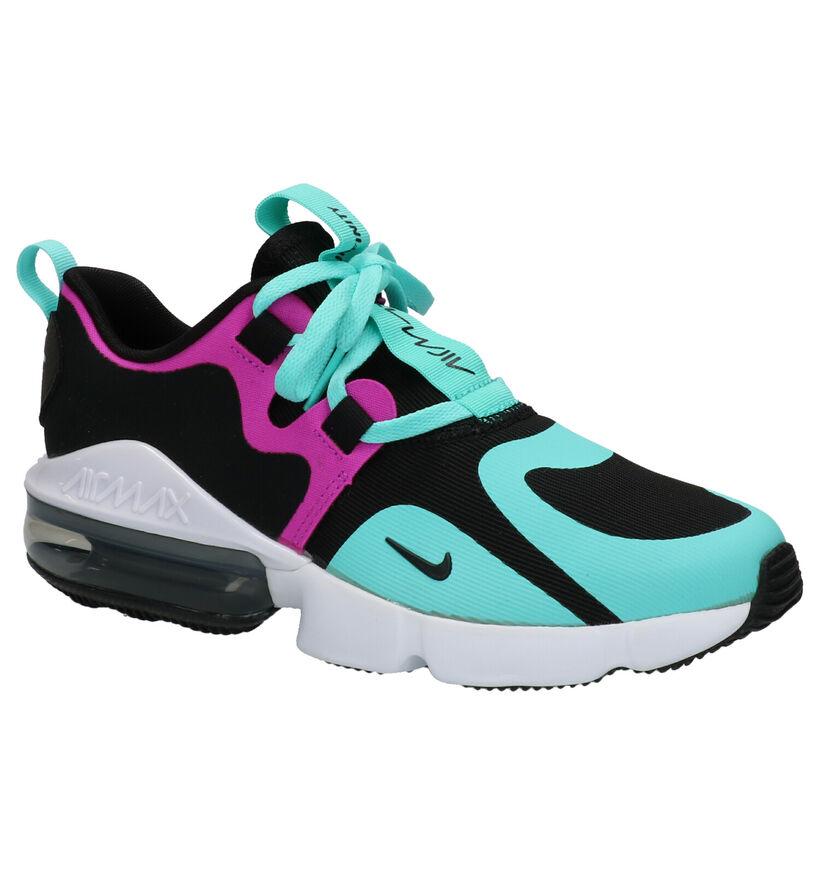 Nike Air Max Infinity Zwarte Sneakers in stof (261675)