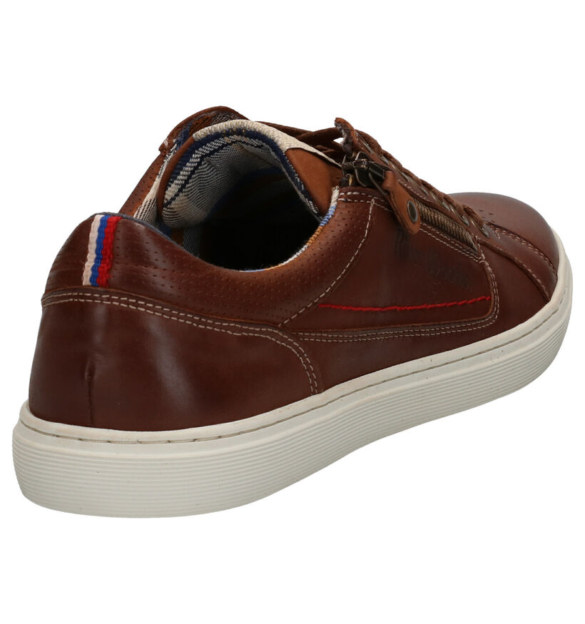 River Woods Boxy Cognac Veterschoenen in leer (271416)
