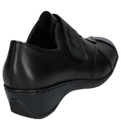 Rieker Chaussures basses en Noir en cuir (260570)