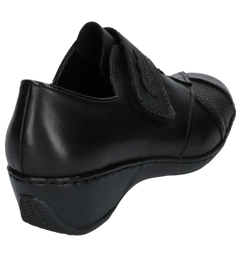 Rieker Chaussures basses en Noir en cuir (282727)