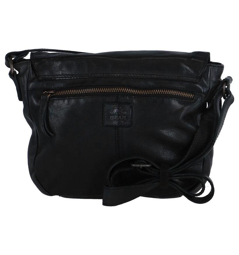 Bear Design Sac porté croisé en Noir en cuir (284273)
