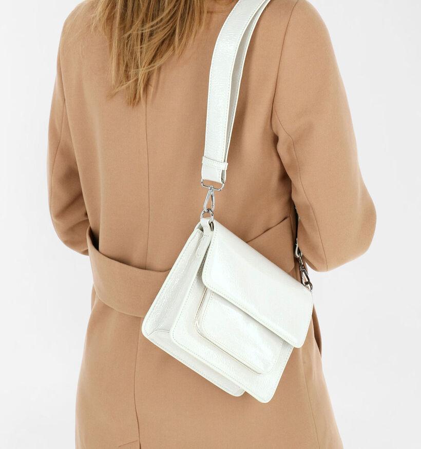 Hvisk Cayman Pocket Vegan Sac porté croisé en Blanc en simili cuir (280694)