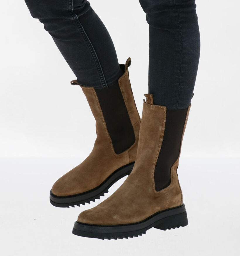 Via Limone Taupe Boots in daim (290444)