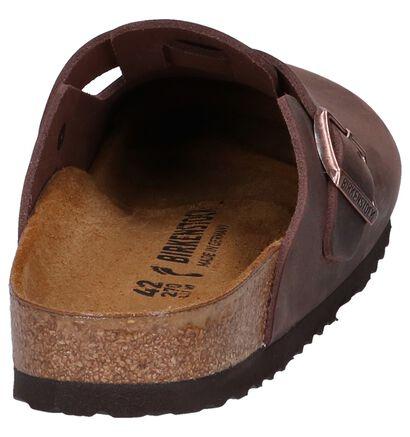 Birkenstock Boston Nu-pieds en Beige foncé en cuir (271221)