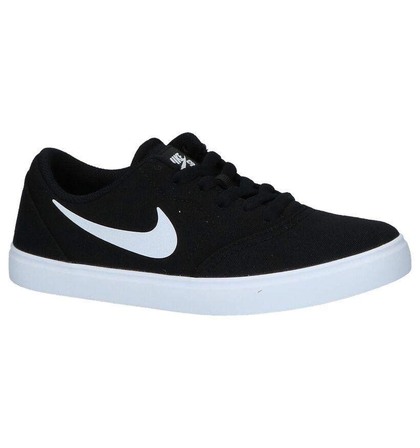 Nike SB Baskets de skate en Noir en textile (249930)